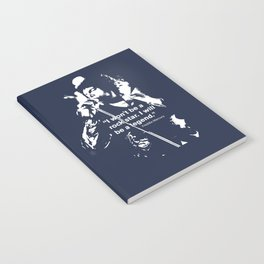 I won't be a rock star. I will be a legend Freddy Mercury Queen Quote Design Notebook