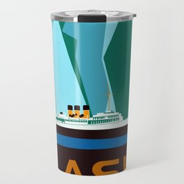 Alaska Taku Glacier retro vintage style travel Travel Mug