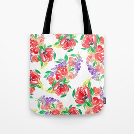 Loose Floral Pattern P6 Tote Bag