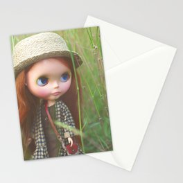 Walking through the field Stationery Cards