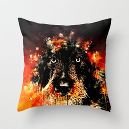 wire haired dachshund dog ws Throw Pillow