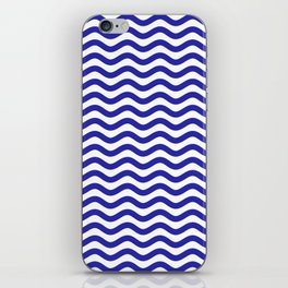 Waves (Navy & White Pattern) iPhone Skin