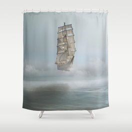 there's no mystery at all Shower Curtain