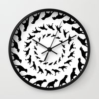 dinosaurs Wall Clocks featuring Dinosaurs by Trokola