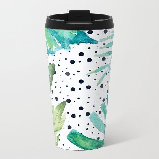 Botanic polka dots Metal Travel Mug