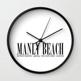 Manly Beach Address Wall Clock