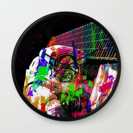 Psychedelic space walk Wall Clock