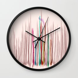 Rainbow Seeds Sprouts Circle of Life Flowers Wall Clock