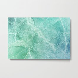 Abstract marble pattern. Closeup surface art tone. Colorful marble stone wall texture background Metal Print
