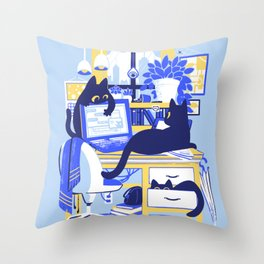 Working From Home Throw Pillow