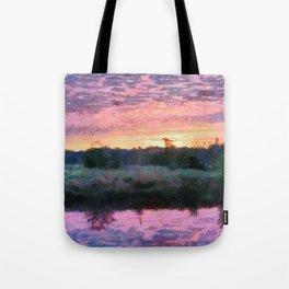 Monet Inspired Sunrise Tote Bag