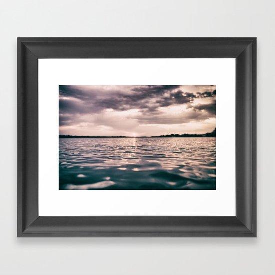 The calm #lake Framed Art Print