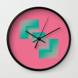 two energies pink green tower Wall Clock