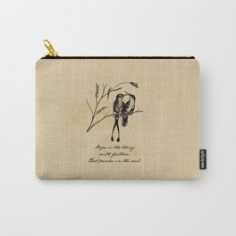 Emily Dickinson - Hope is the Thing with Feathers Carry-All Pouch
