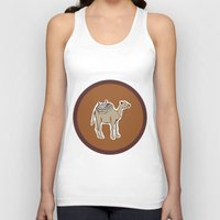 camel Tank Tops featuring camel by johanna strahl