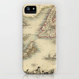 Map of Newfoundland 1851 iPhone Case