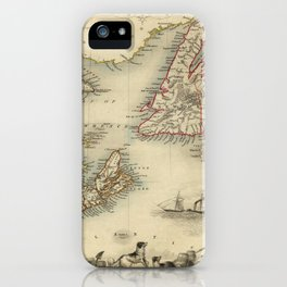 Map of Newfoundland 1851 iPhone Case