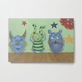 No Evil Monster Babies Metal Print