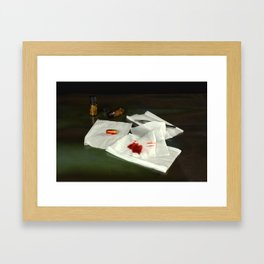 Bullet extraction Framed Art Print