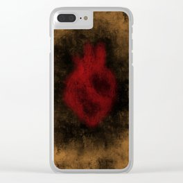 Heart Implosion Clear iPhone Case