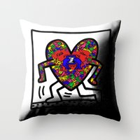 keith haring Throw Pillows featuring Keith Haring by men90