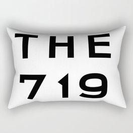 719 Colorado Area Code Typography Rectangular Pillow