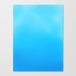 Ripples Cool Blue Drip Canvas Print
