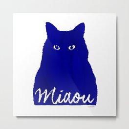 MIAOU bleu Metal Print