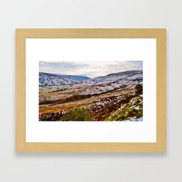 Remnants of Snow on the Brecon Beacons Framed Art Print