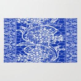 Vintage Lace Sapphire Blue Rug