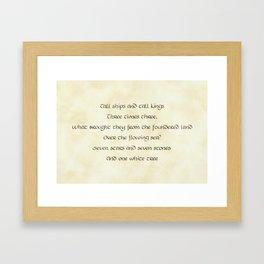Rhyme of Lore Framed Art Print