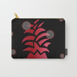 Tropical Red and Black Carry-All Pouch