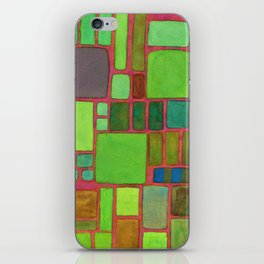 Collection of Rectangles with Blue Striped Staff iPhone Skin