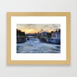 Riverfront Park Sunrise Framed Art Print