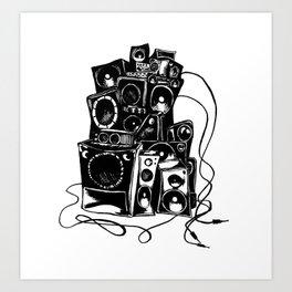 boombox Art Print