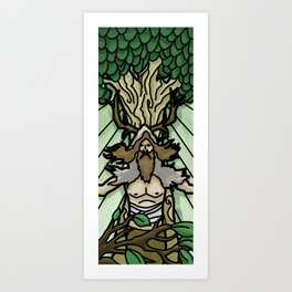 Stained Glass Druid Art Print