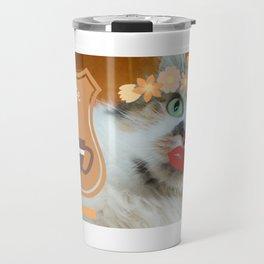 PSL Life Cat Basic Pumpkin Spice Latte Kitty Travel Mug