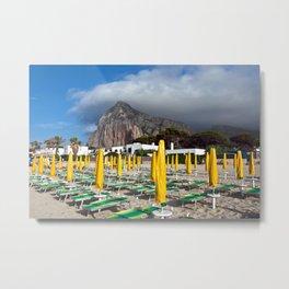 Beach of San Vito Lo Capo Metal Print