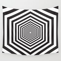 hexagon Wall Tapestries featuring Hexagon by Vadeco
