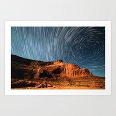 Stars on the Cliffside Art Print