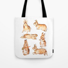 Bunnies in Tales of Peter Rabbit  characters Beatrix Potter Tote Bag