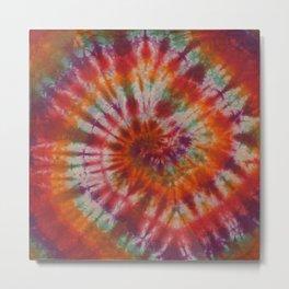 Tie Dye Rainbow Spiral Galaxy Metal Print