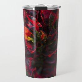 Croton in Red Travel Mug