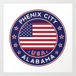 Phenix City, Alabama Art Print
