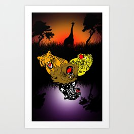 Big Cat Safari Art Print