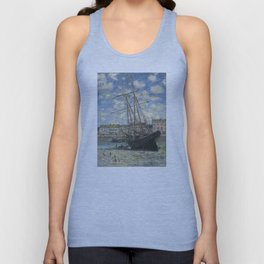 Claude Monet - Boats Lying at Low Tide at Facamp Unisex Tank Top