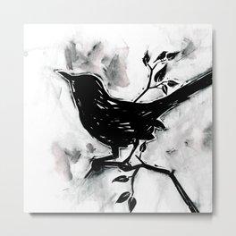 Black Bird 1b by Kathy Morton Stanion Metal Print