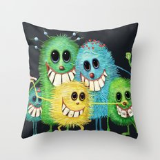 Happy Families Throw Pillow