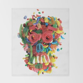Death and Tooth Decay Throw Blanket