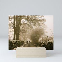 A Walk in the Snow Mini Art Print
